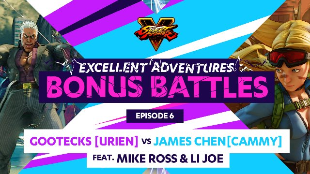 Bonus Battle: Gootecks (Urien) vs. James Chen (Cammy) ft. Mike Ross & LI Joe