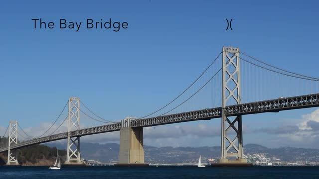 The Bay Bridge TV Live Scene Scrensaver