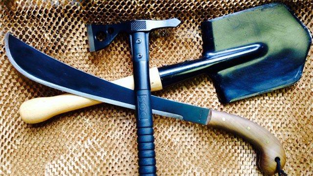 Knife, Axe and Shovel