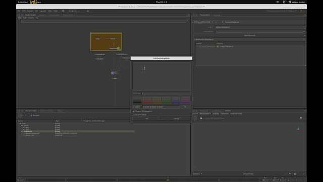 Adding Arnoldshadingnode and network materials in Katana