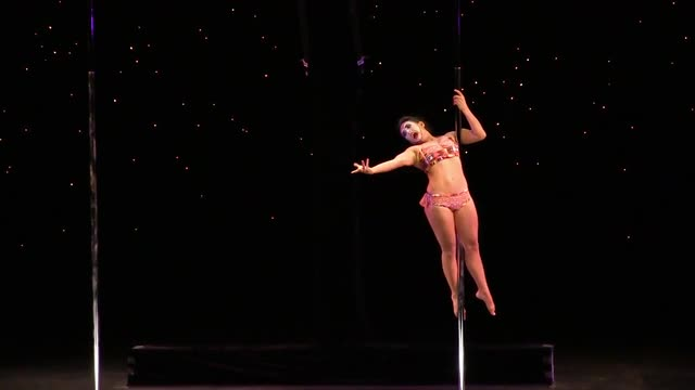 "US National Pole Dance Champion, 1st Place Winner Sergia,  ""Clown"""