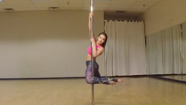 Pole Dip to Back Hook Spin