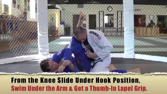 BJJ Ronin Brabo Choke from Stack Pass Using Your own Lapel
