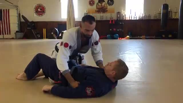 Knee Bar from Top Half Guard