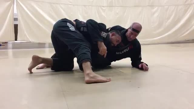 Outside Underhook Escape from Crossbody to Back Take and Far Knee Pinch