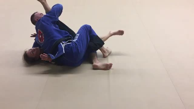 Waiter Sweep from Deep Half Guard