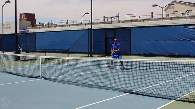 Backhand Volley Visualization Sequence