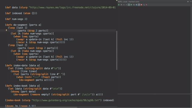 Markov Chains of IRC logs
