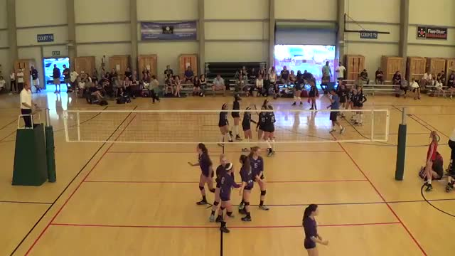 Mizuno LBeach 14Rockstar v A4 Volley 15Purple PL1 3/21/15.mp4
