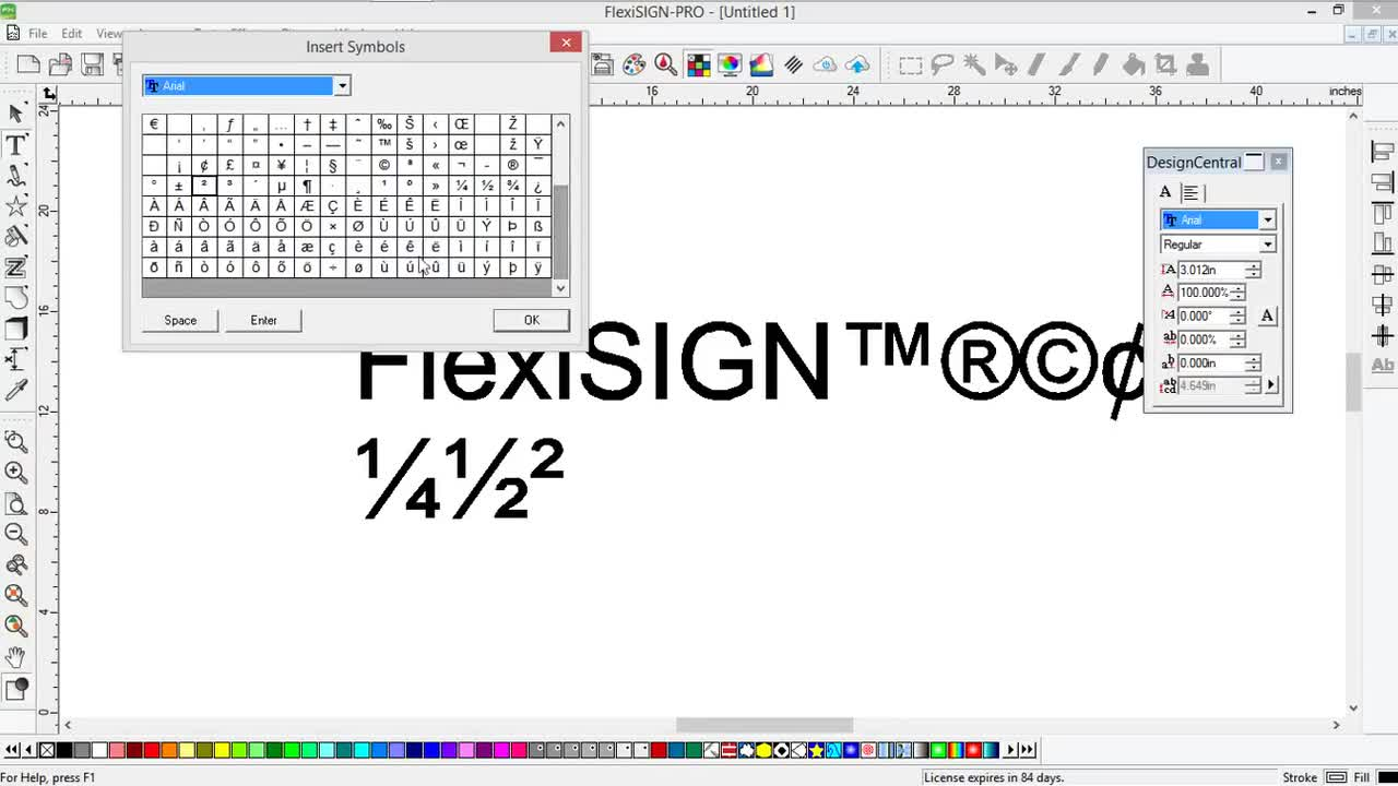 Flexi Inserting Special Characters Symbols Mark Rugen