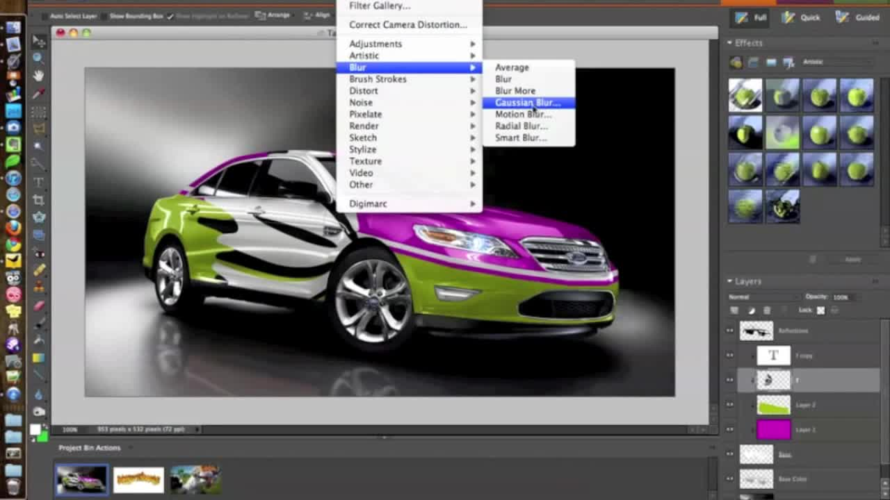 How to visualize a realistic car wrap