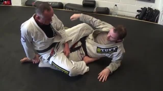 Closed Guard > Double Ankle Grab Sweep> Mount Position