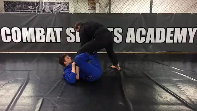Modified X Guard Leg Push Sweep