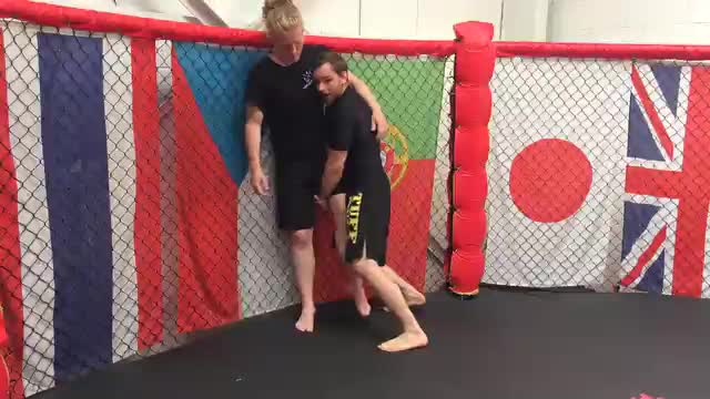 Single Leg Takedown Against The Cage
