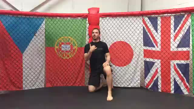 Wall Walk Drill Against The Cage