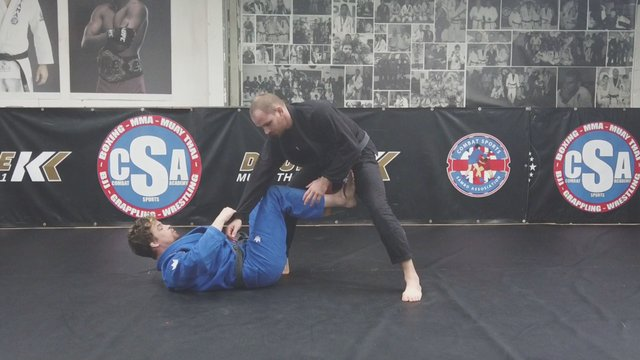 Sit Up Guard Single Leg Sweeps