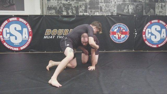 Finishing The Single Leg Cutback Vs Sprawl > Armbar