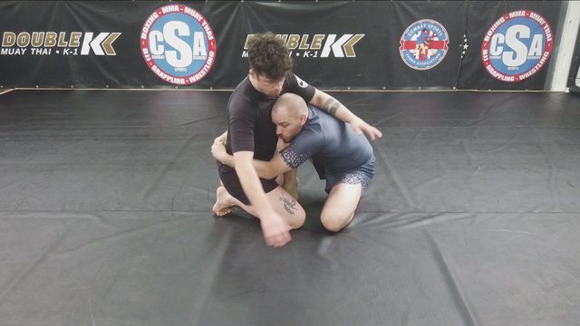 Butterfly Bodylock Sweep > Double Unders Sweep To Mount