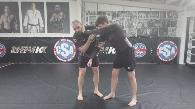 Russian Tie/2 On 1 > Single Leg/Ankle Pick > Clearning The Post > Front Headlock Counter > Low Single