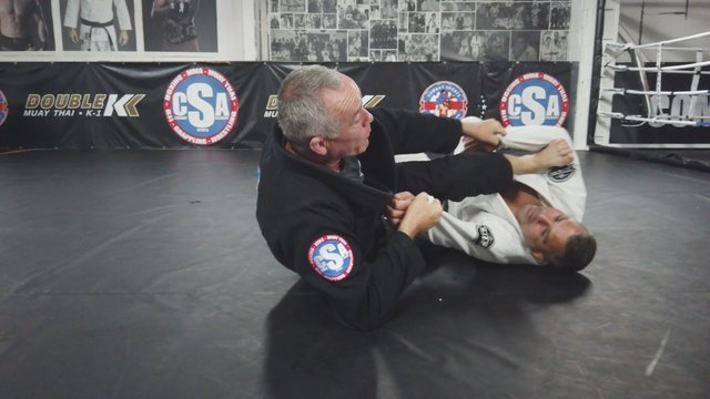 Closed Guard To Spider Guard > Sweep > Triangle > Armbar