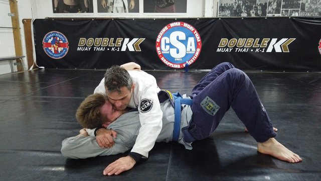 Side Control Crucifix Collar Choke