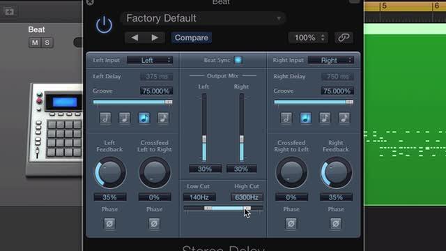 Stereo Delay Spot Fills