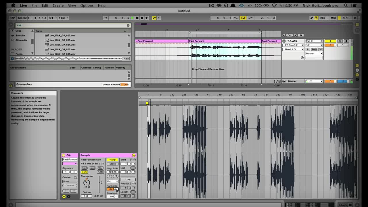 A Few Thoughts On Vocal Pitching In Ableton Live