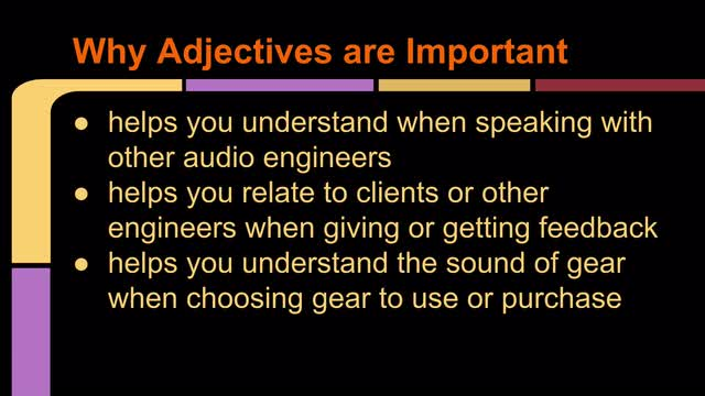 02 Why Adjectives Are Important