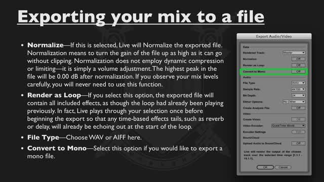 8.2 Exporting Your Mix