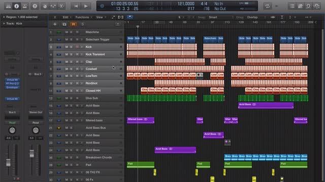 02 Hide Tracks, Track Stacks, Section Edits