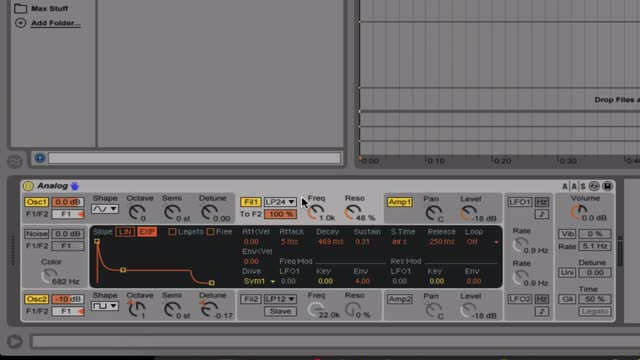 11 Using Ableton's Analog For Subtractive Synthesis