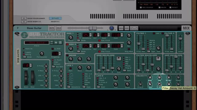 05 The Subtractor In Reason Interface