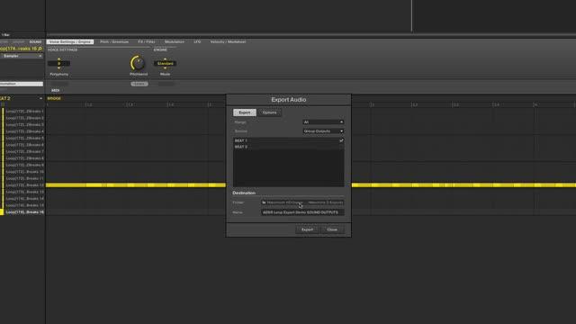 Loop Export Techniques In 2.4.6