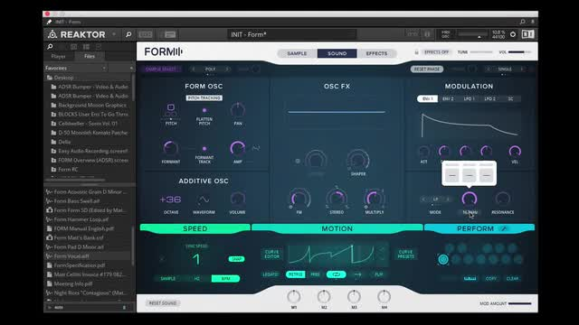 01 Complex Motions - Form Sound Design Tips