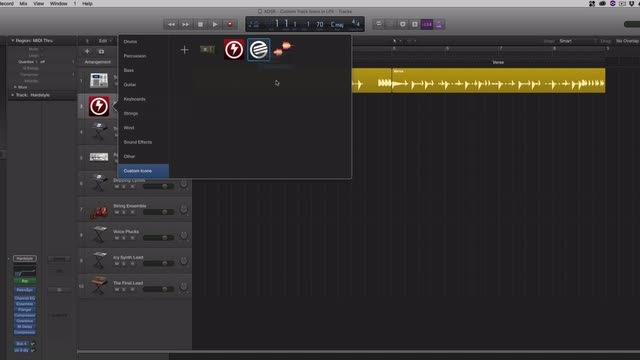 Custom Track Icons In Logic Pro X