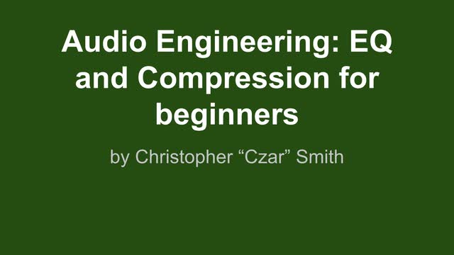 01 Eq And Compression Intro