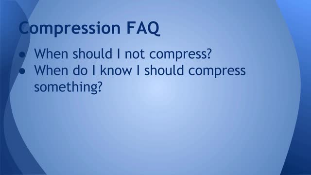 12 Compression FAQ part 2