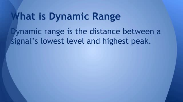 03 Dynamic range