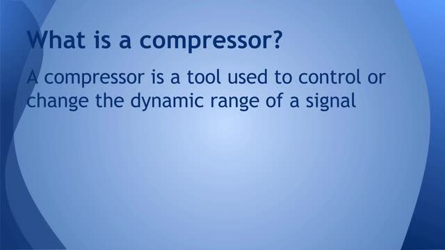 02 What is a compressor