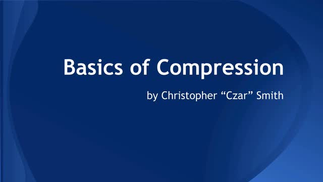 01 Intro to compression