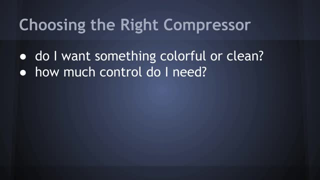 13 Choosing The Right Compressor