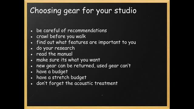 19 Choosing Gear For Your Studio