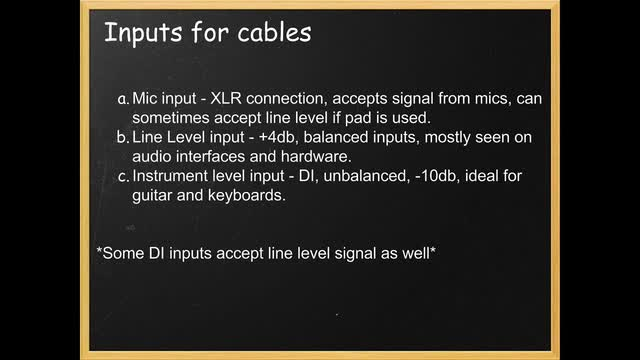 14 Inputs For Cables