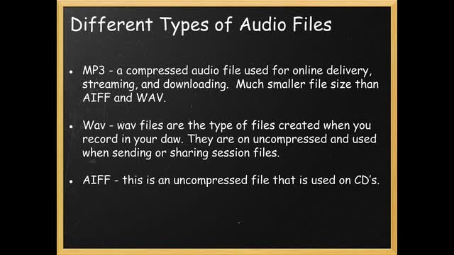 04 Different Types Of Audio Files
