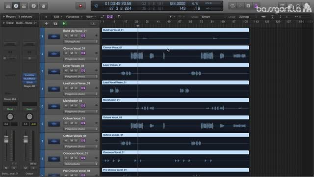 03 Warping From 128bpm to 124bpm