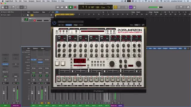 08 Setting up Drumazon as a multi-output instrument in Logic and Ableton