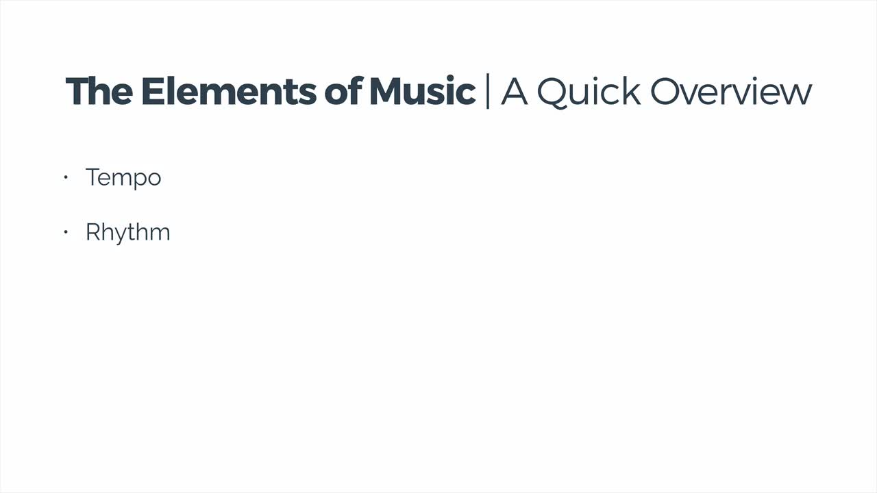 03 The Elements of Music