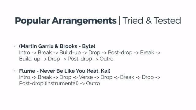 42 Popular Track Arrangements