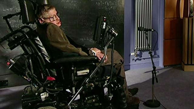 Stephen Hawking asks big questions about the universe