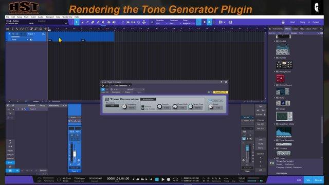 Rendering the Tone Generator